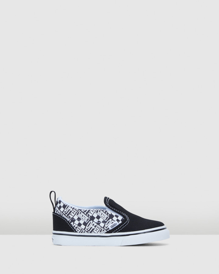 Shoes and Sox Slip On Off The Wall Inf Black/Asphalt
