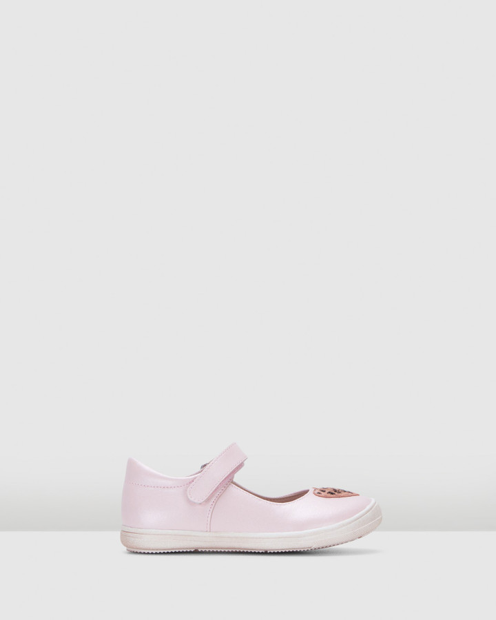 Shoes and Sox Marina Mary Jane Pink Metallic