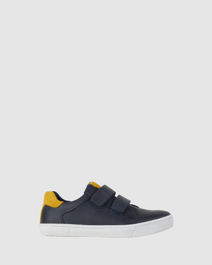 Shoes and Sox Grant Navy/Mustard