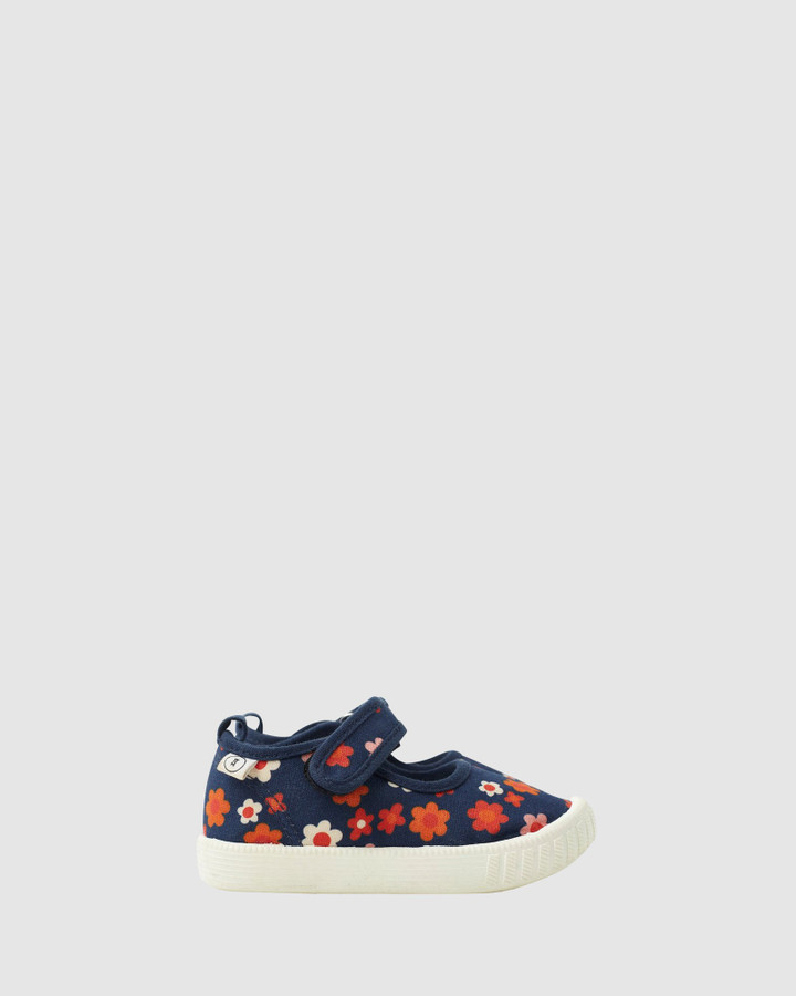 Shoes and Sox Classic Mj   Juno Floral Navy