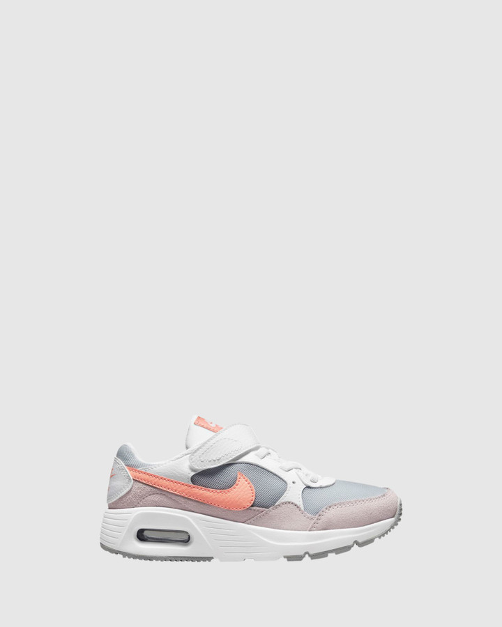 Shoes and Sox Air Max Sc Ps G White/Crimson Bliss