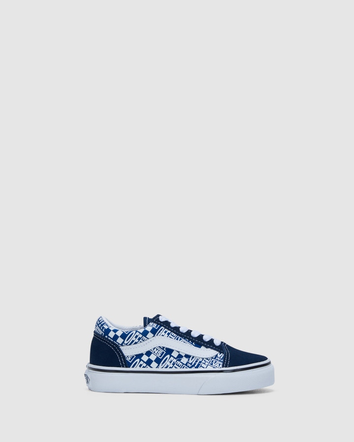 Shoes and Sox Old Skool Yth B Dress Blue/White