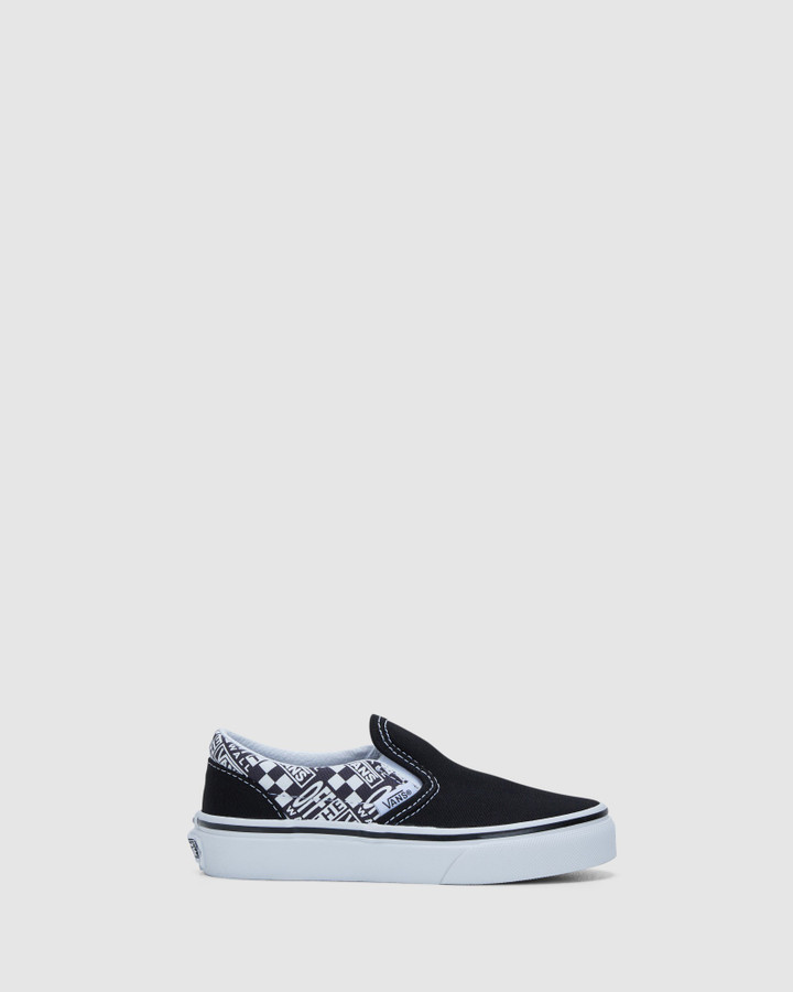 Shoes and Sox Classic Slip Off The Wall Yth Black/Asphalt