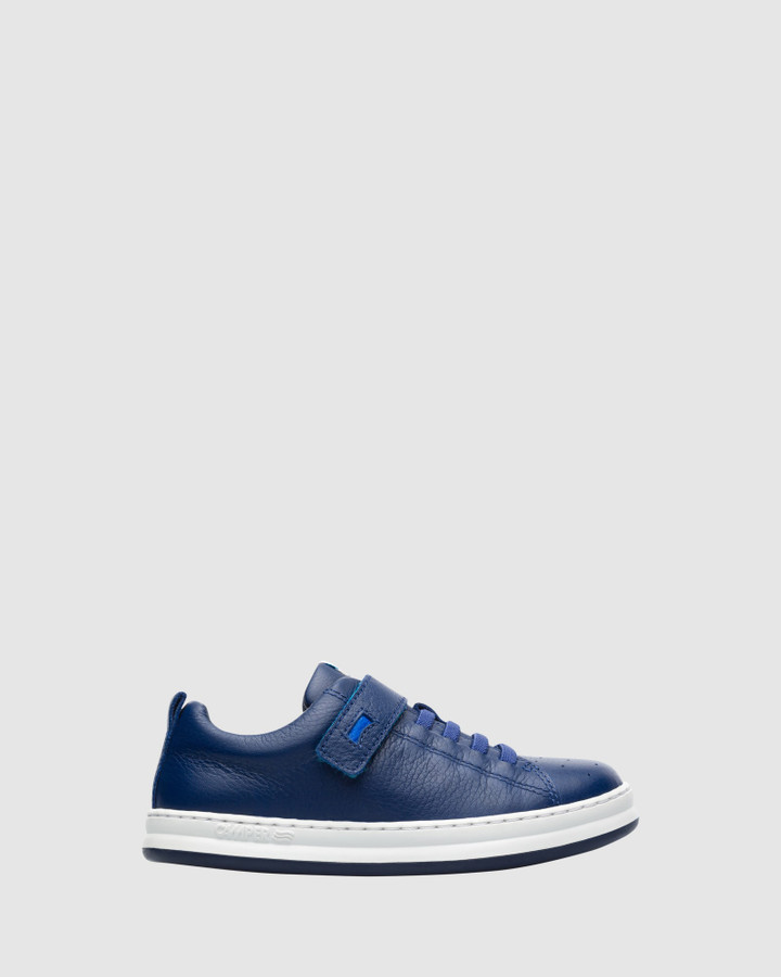 Shoes and Sox Runner Sneaker Sf B Yth Navy