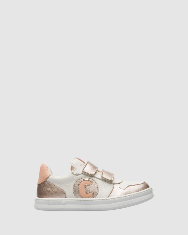 Shoes and Sox Runner Sneaker Sf G Yth White/Gold