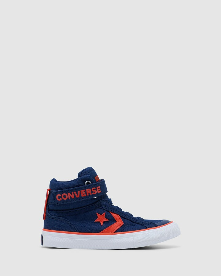 Shoes and Sox Pro Blaze Strap Yth Navy/Red