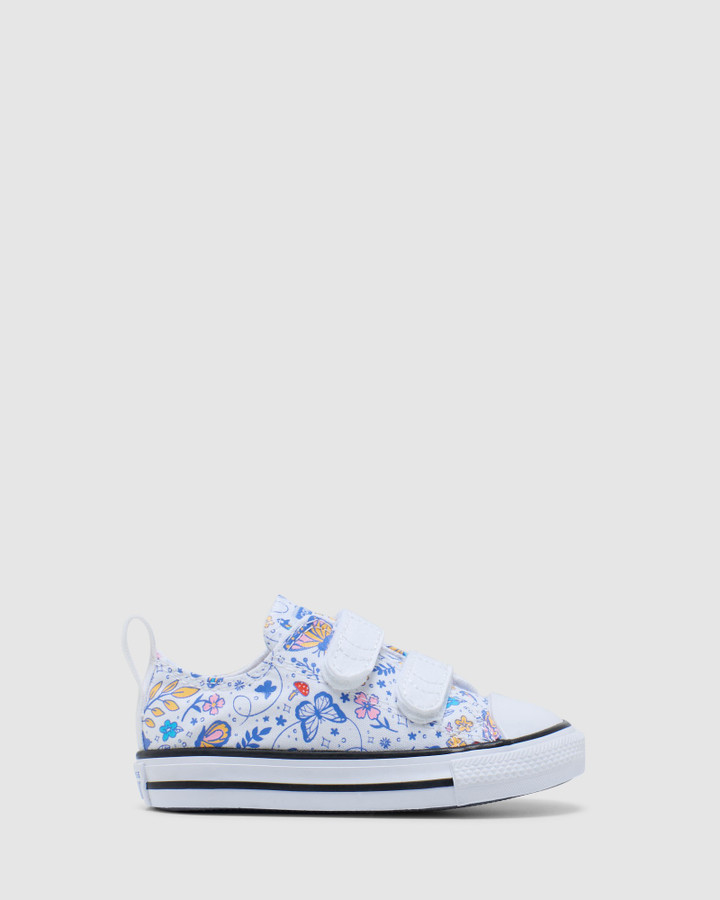 Shoes and Sox Ct As 2 V Butterfly Ox Inf G White/Black
