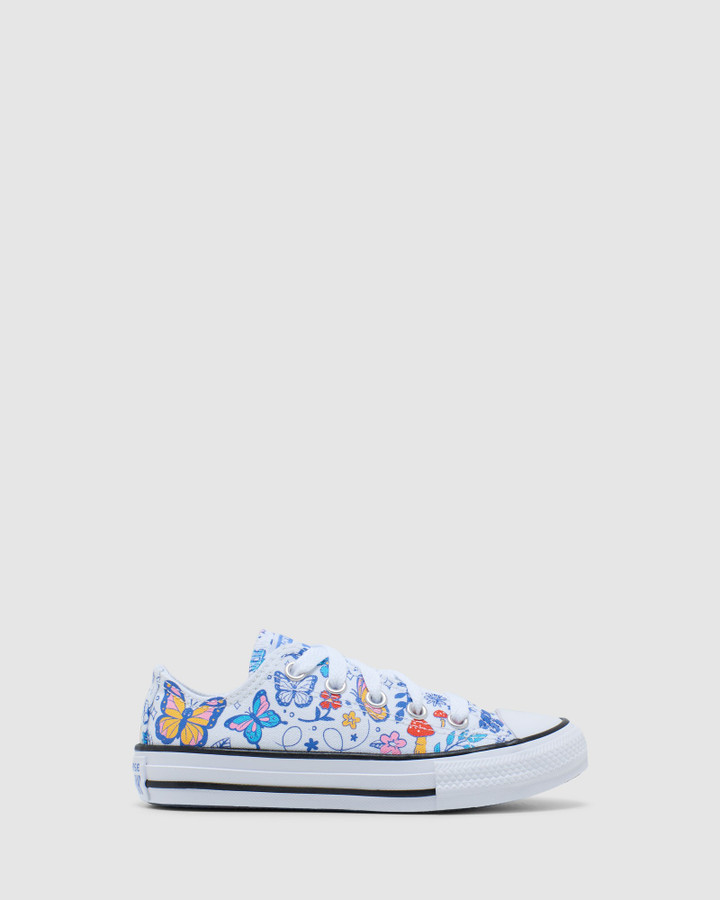 Shoes and Sox Ct As Butterfly Yth G White/Black