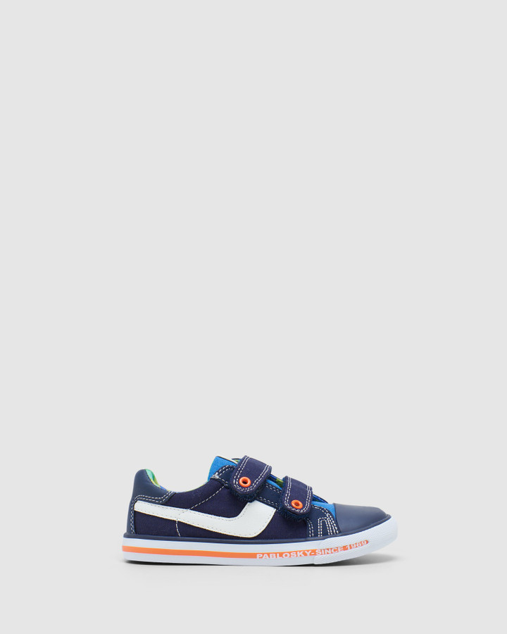 Shoes and Sox Multi Canvas 9621 Yth Navy Multi
