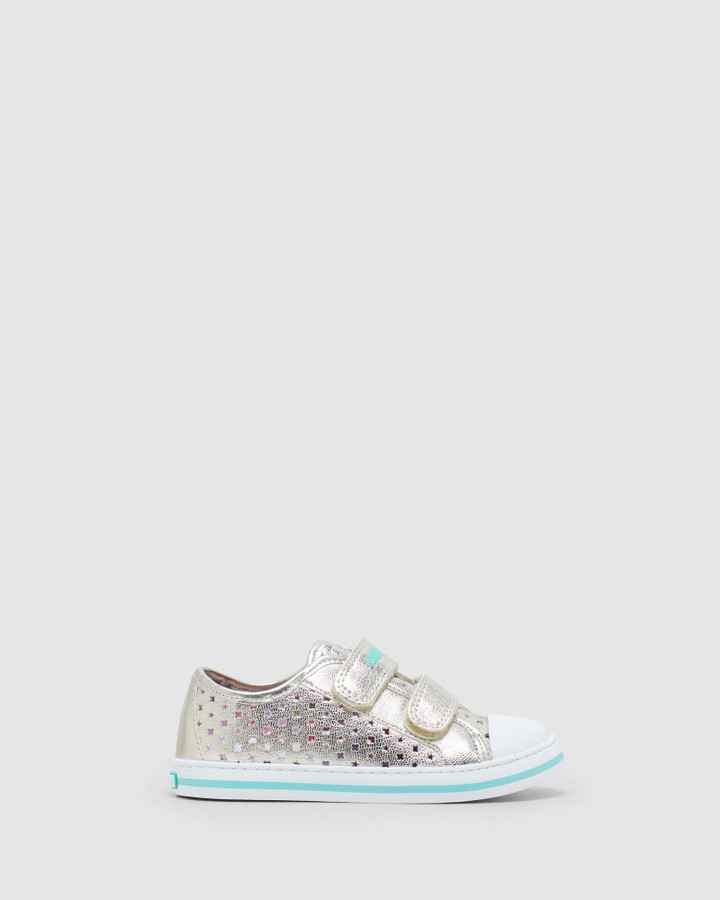 Shoes and Sox Perf Sneaker Sf 9626 Yth Champagne
