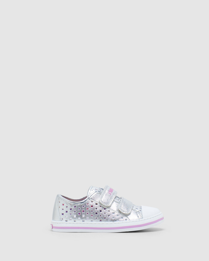 Shoes and Sox Perf Sneaker Sf 9626 Yth Silver