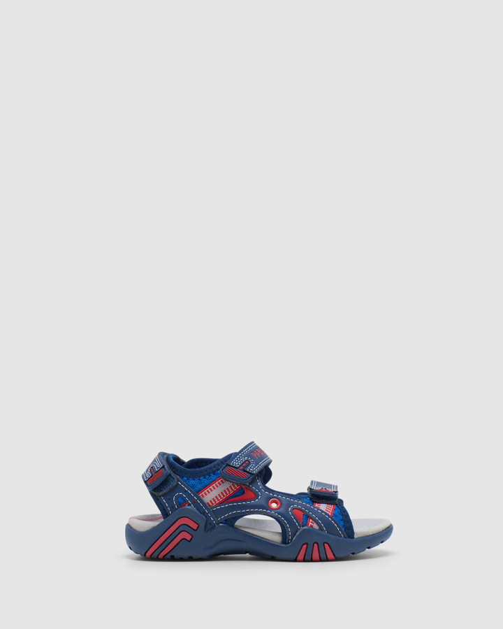 Shoes and Sox Surf Sandal B 9637 Yth Navy/Red