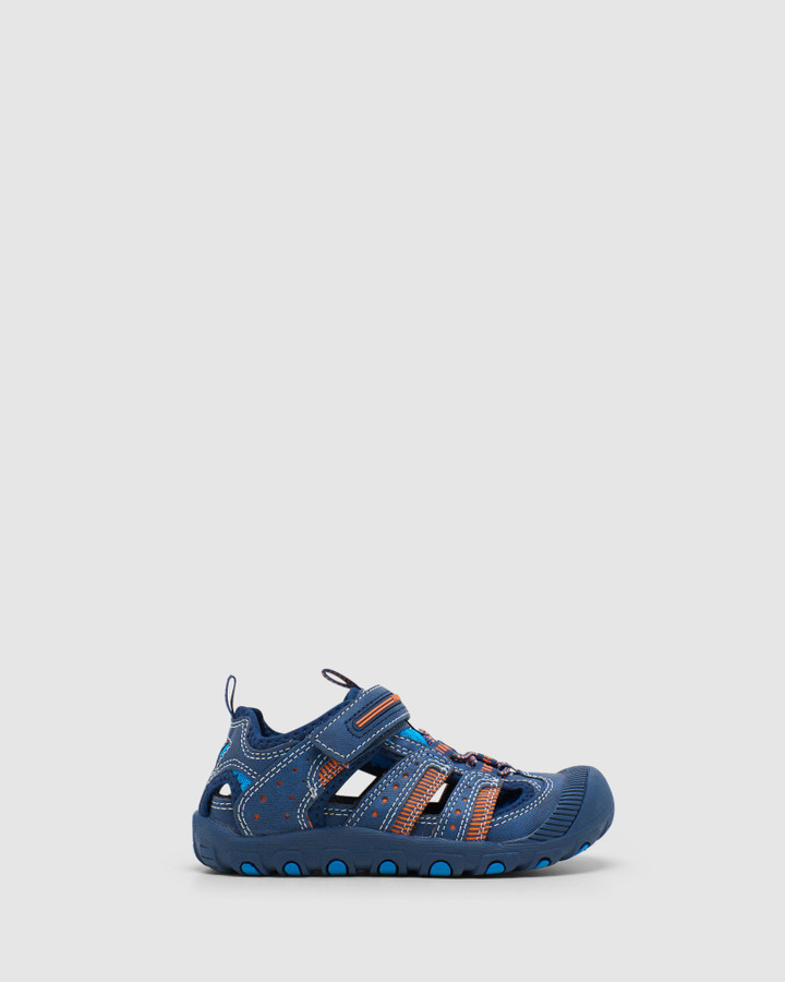 Shoes and Sox Surf Cage Sandal B 9638 Yth Navy/Orange