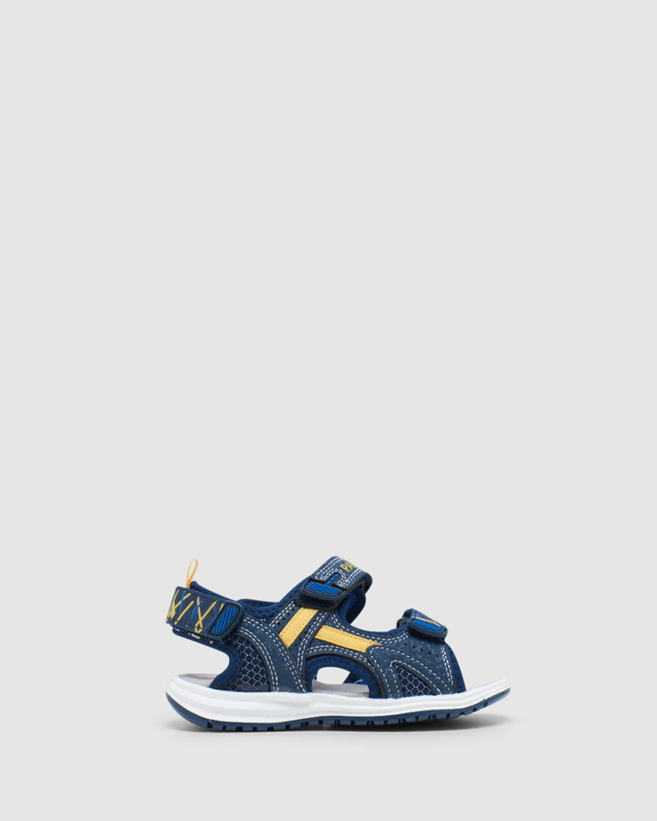 Shoes and Sox Surf Sandal B 965320 Yth Navy/Yellow