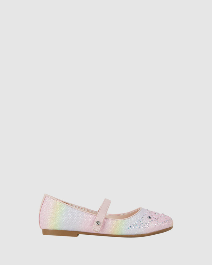 Shoes and Sox Coco Princess Pastel Pink Multi