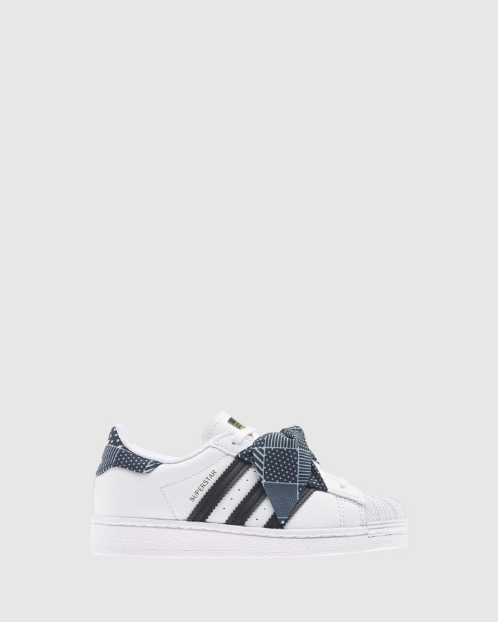 Shoes and Sox Superstar Bow Ps G White/Black