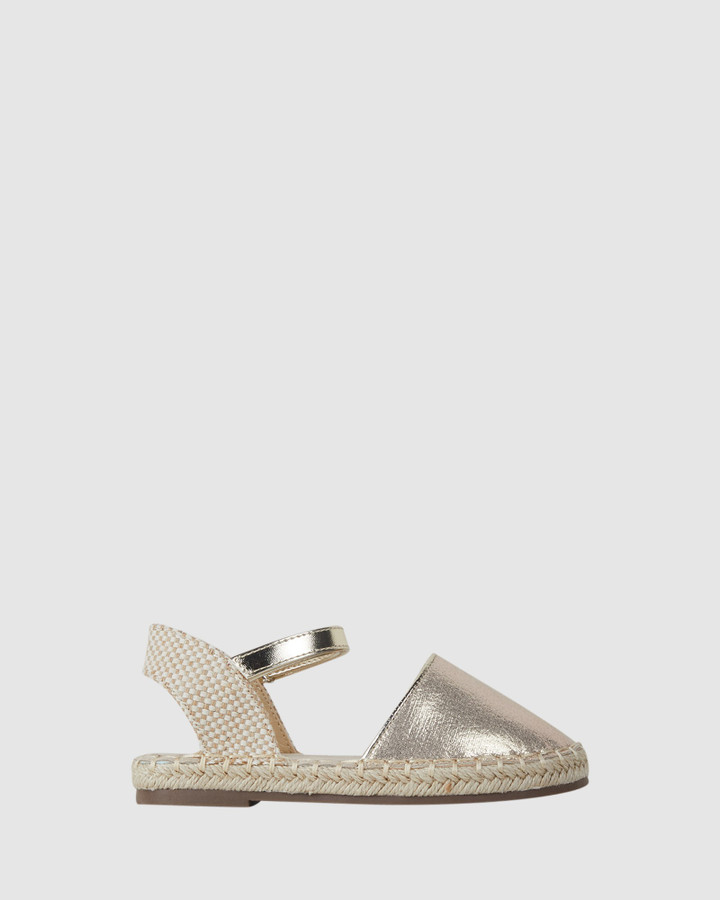 Shoes and Sox Kayla Espadrille Soft Gold
