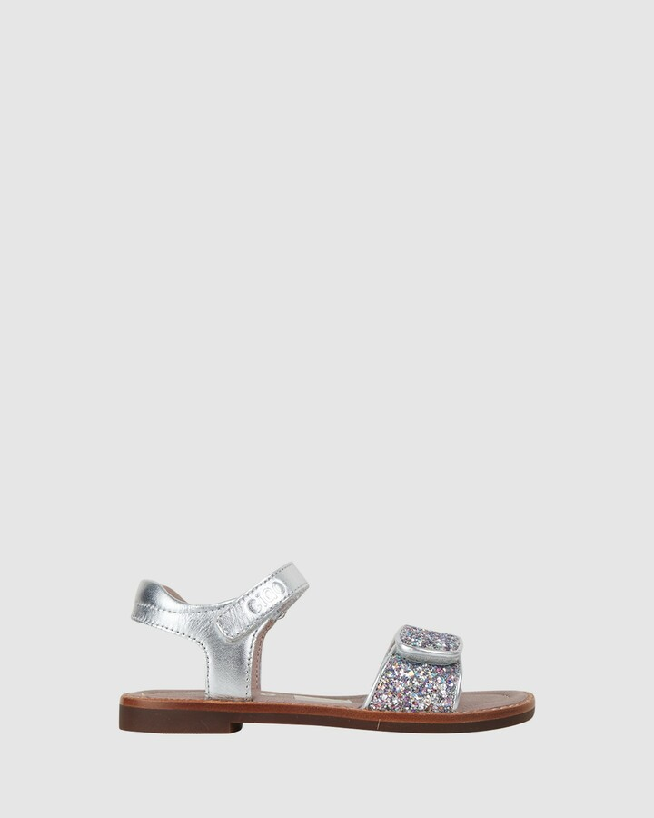 Shoes and Sox Glamour Rainbow Silver