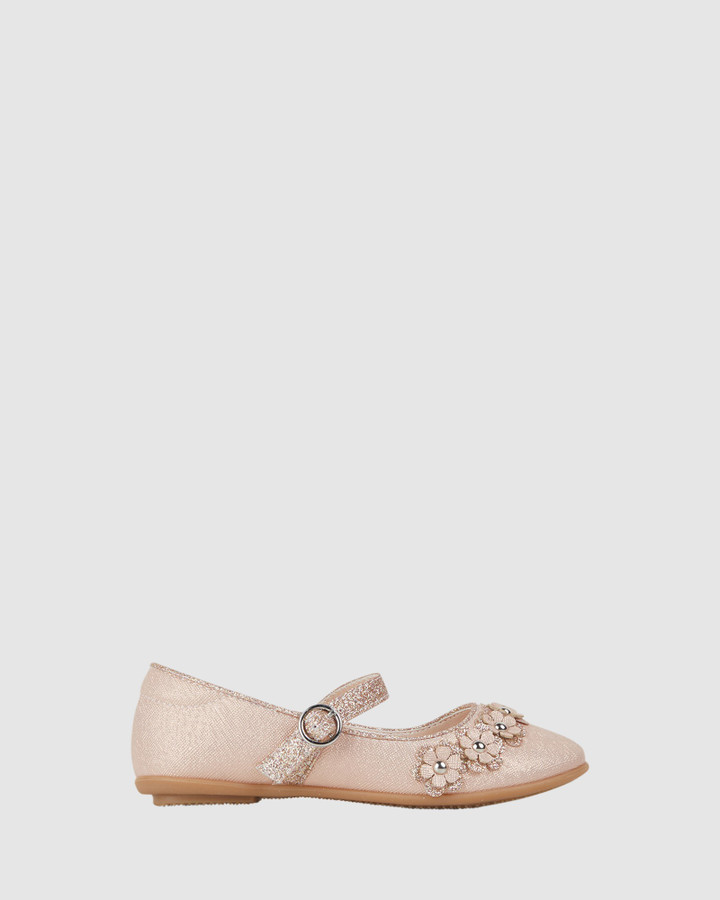 Shoes and Sox Caley Flower Rose Gold