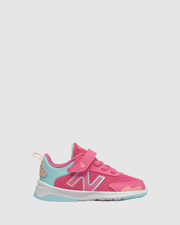 Shoes and Sox 545 Sf Strap Inf G Pink/Turquoise