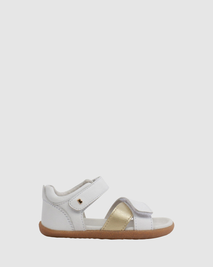 Shoes and Sox Step Up Sail Sandal Ii G White/Misty Gold