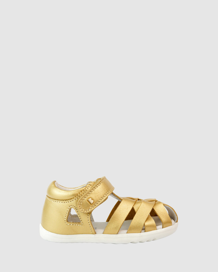 Shoes and Sox Step Up Qd Tropicana Cage Ii Gold