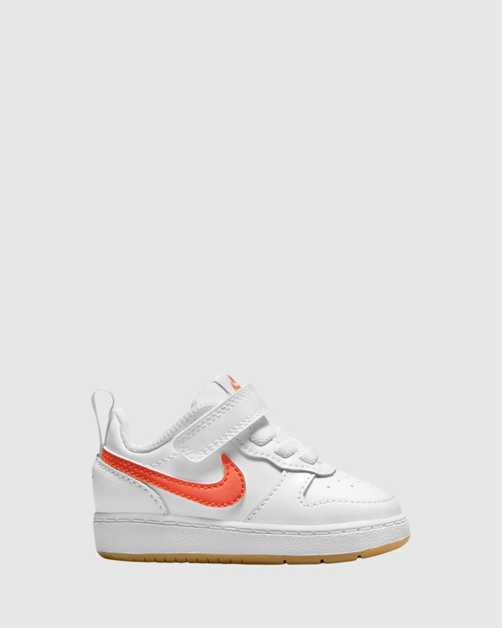 Shoes and Sox Court Borough Low 2 Inf G White/Orange Summit