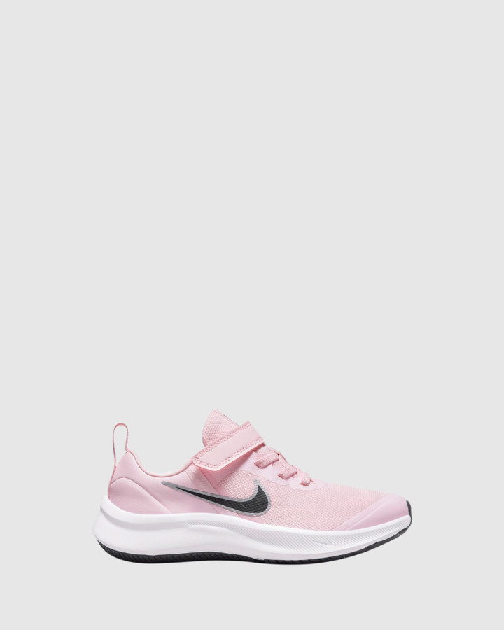 Shoes and Sox Star Runner 3 Ps G Pink Foam/Black