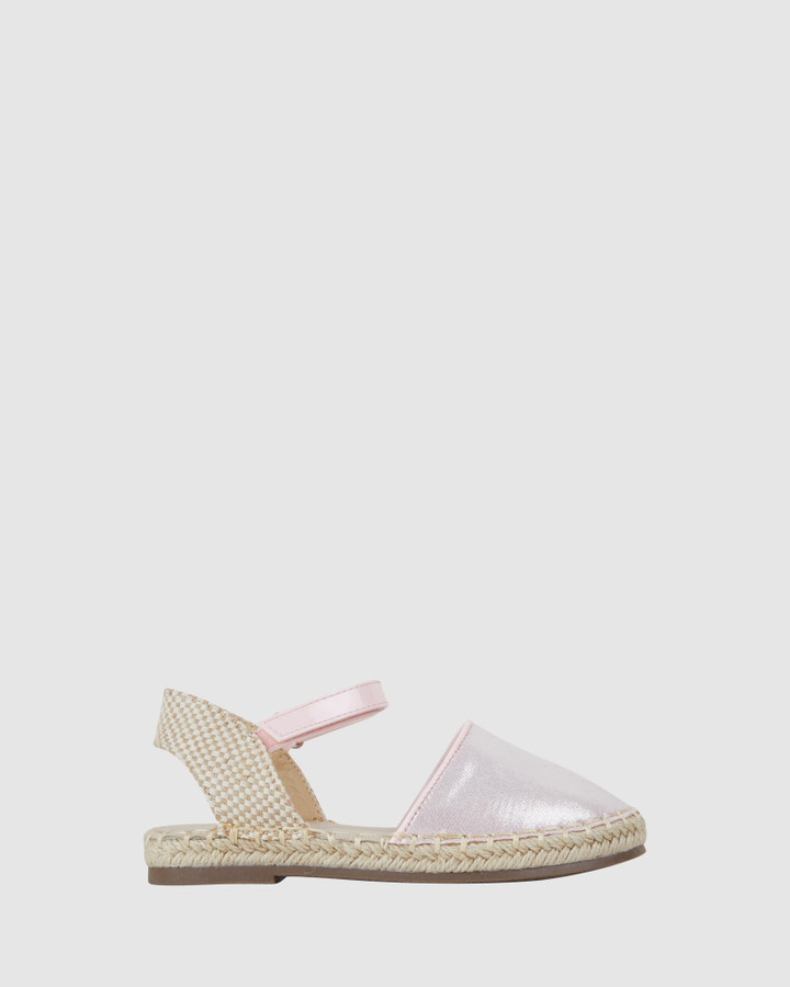 Shoes and Sox Kayla Espadrille Light Pink