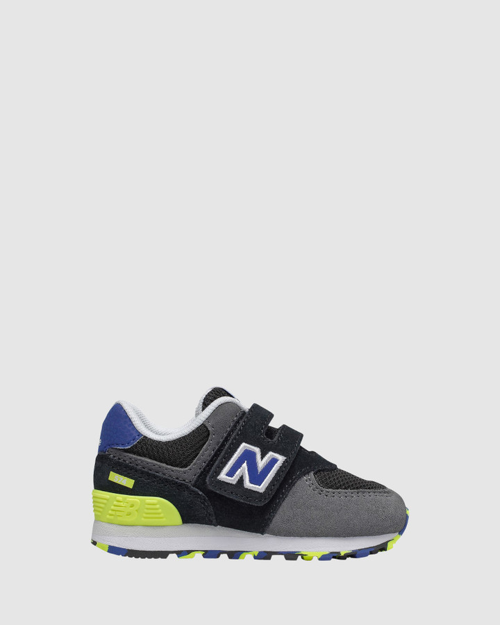 Shoes and Sox 574 Sf Strap Inf B Black/Blue/Lime