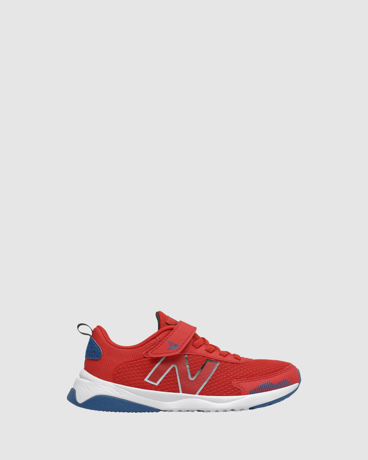 Shoes and Sox 545 Sf Strap Ps B Red/Blue