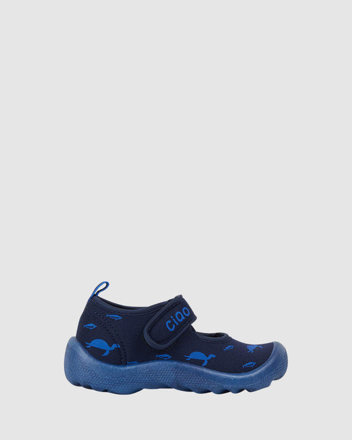 Shoes and Sox Beach Underwater B Navy/Blue