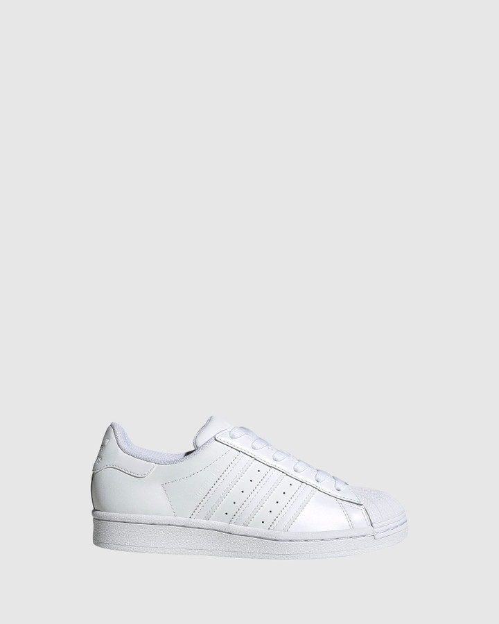 Shoes and Sox Superstar Foundation Ii Gs B White/White