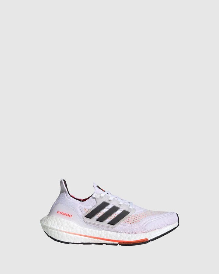 Shoes and Sox Ultraboost 21 Gs B White/Black/Red