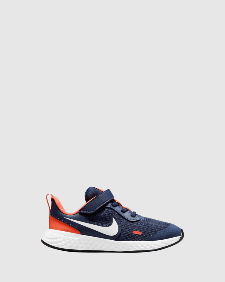 Shoes and Sox Revolution 5 Ps B Midnight Navy/White/Orange