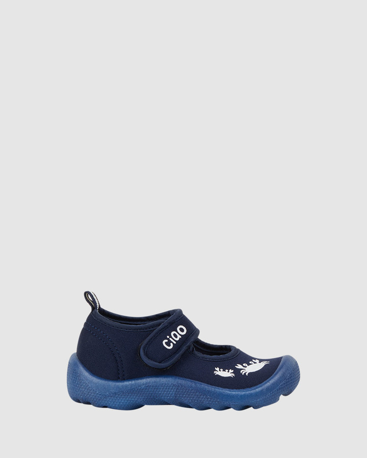 Shoes and Sox Beach Classic Crab B Navy/White