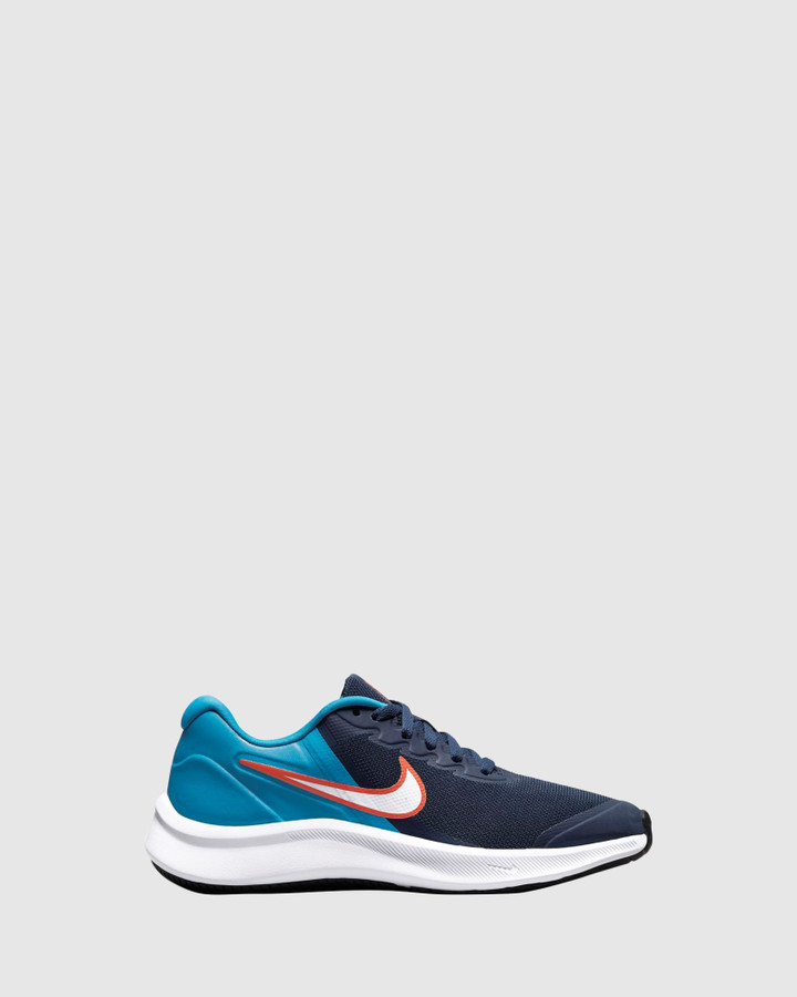 Shoes and Sox Star Runner 3 Gs B Midnight Navy/White/Imperial