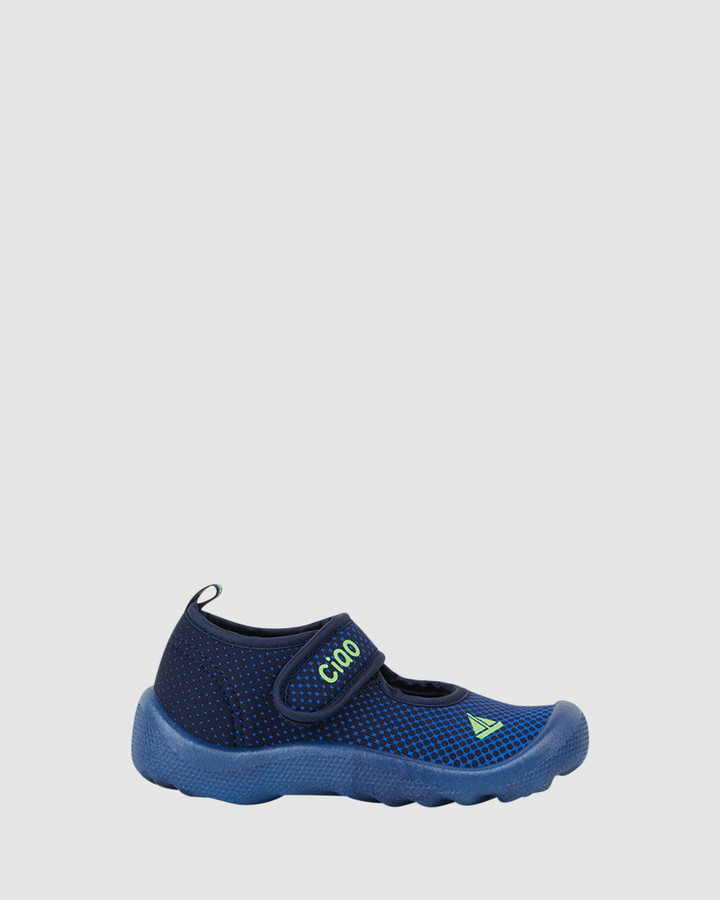 Shoes and Sox Beach Spotty Yacht B Navy/Lime