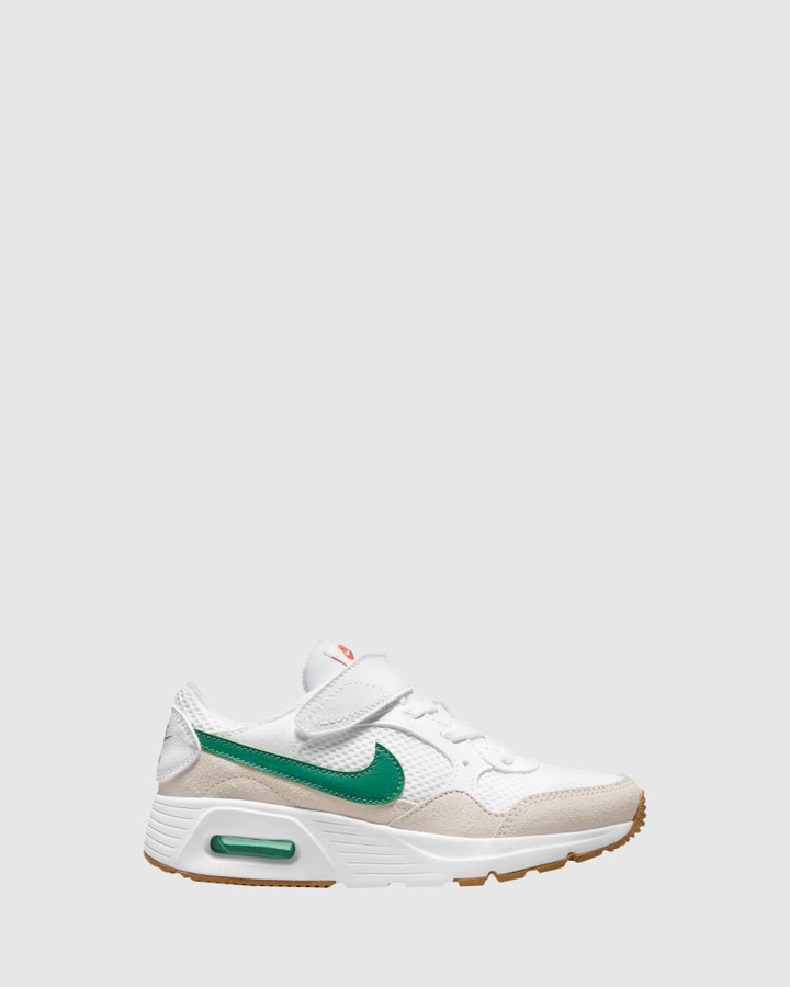 Shoes and Sox Air Max Sc Ps B White/Green Noise