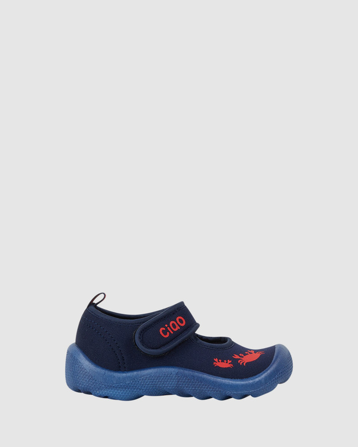 Shoes and Sox Beach Classic Crab B Navy/Red