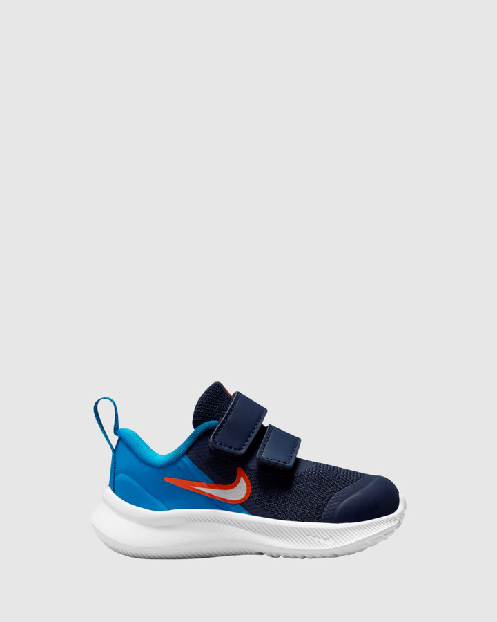 Shoes and Sox Star Runner 3 Inf B Midnight Navy/White/Imperial