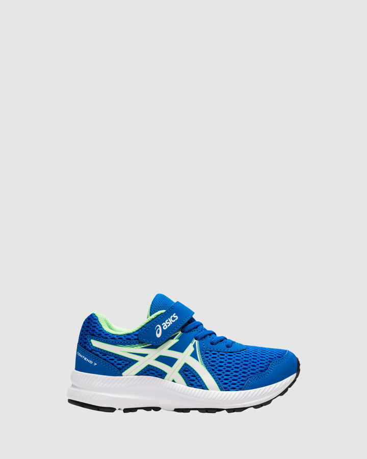 Shoes and Sox Contend 7 Ps B Electric Blue/White