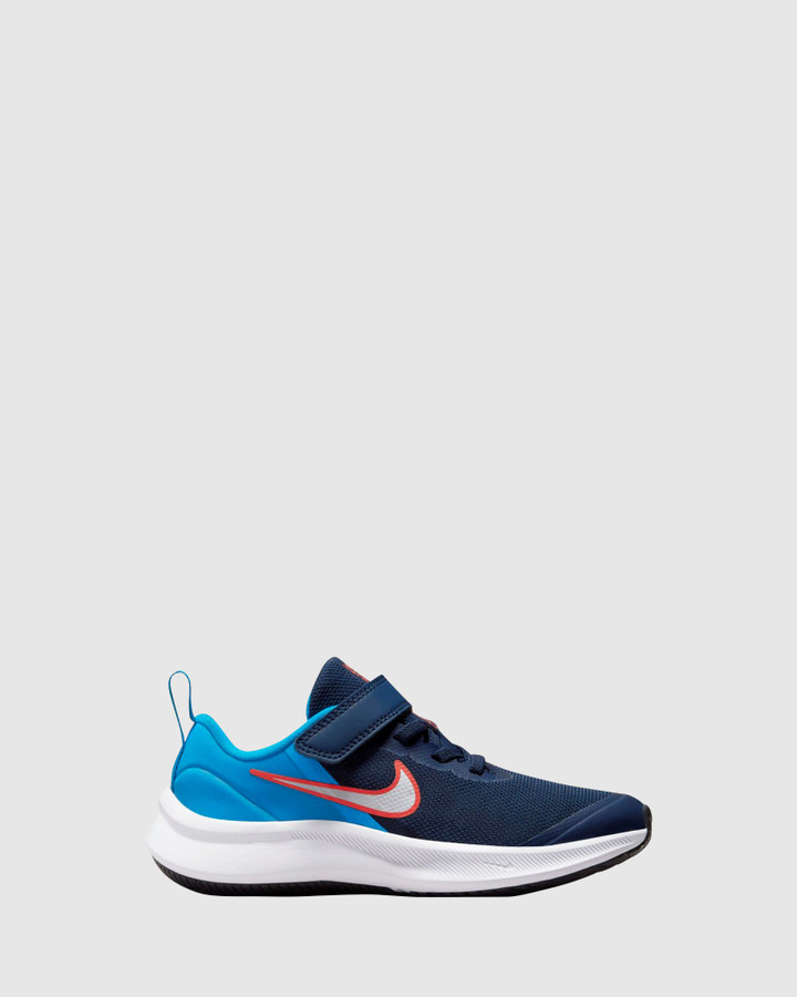 Shoes and Sox Star Runner 3 Ps B Midnight Navy/White/Imperial