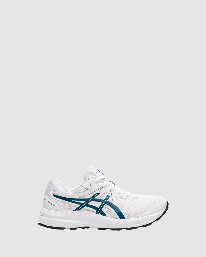 Shoes and Sox Contend 7 Gs B White/Deep Seal Teal