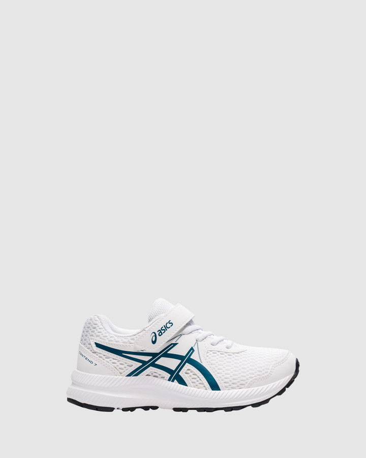 Shoes and Sox Contend 7 Ps B White/Deep Seal Teal