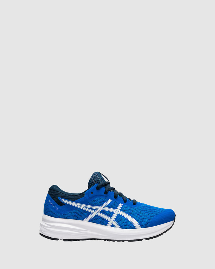 Shoes and Sox Patriot 12 Gs B Electric Blue/White
