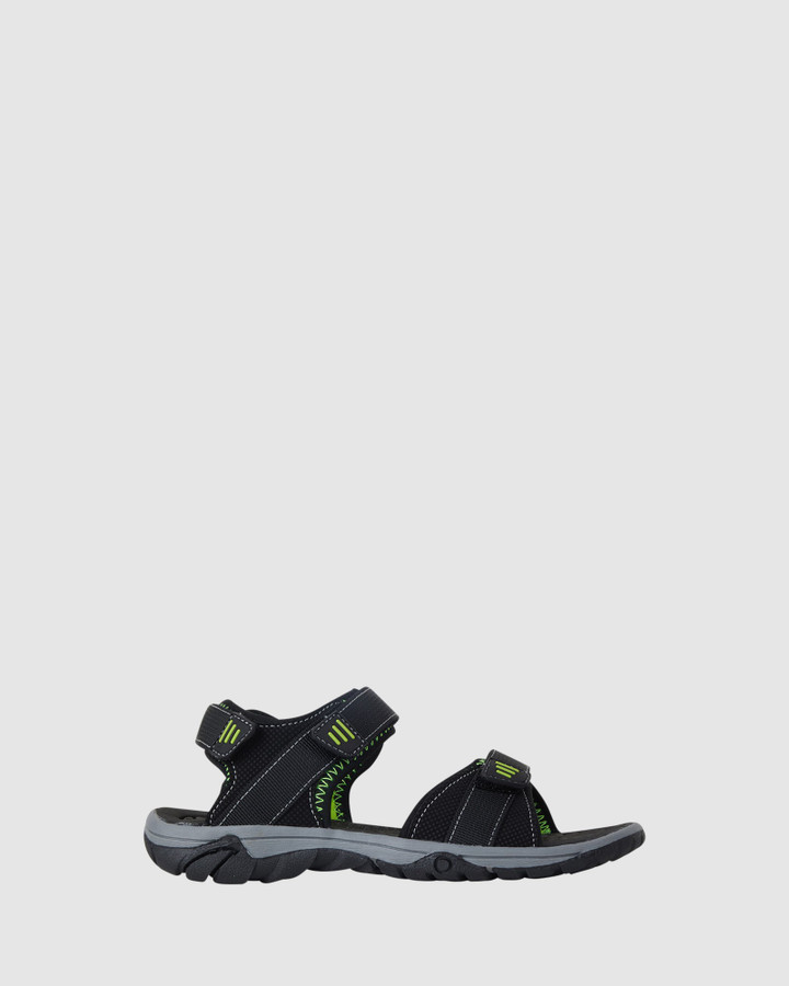 Shoes and Sox Callum Black/Lime
