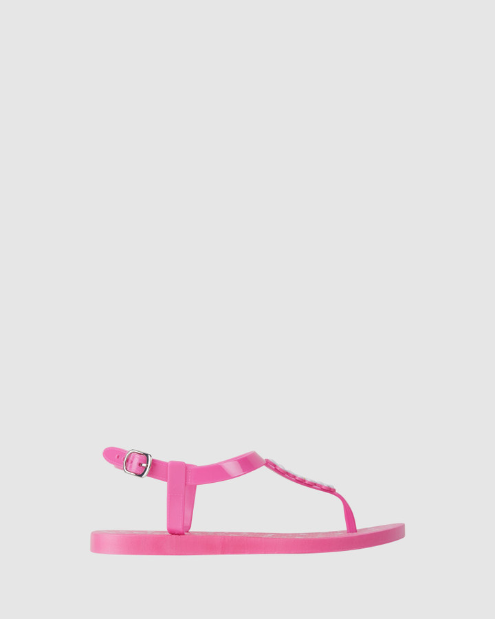 Shoes and Sox Khloe Daisy Sandal Bright Pink
