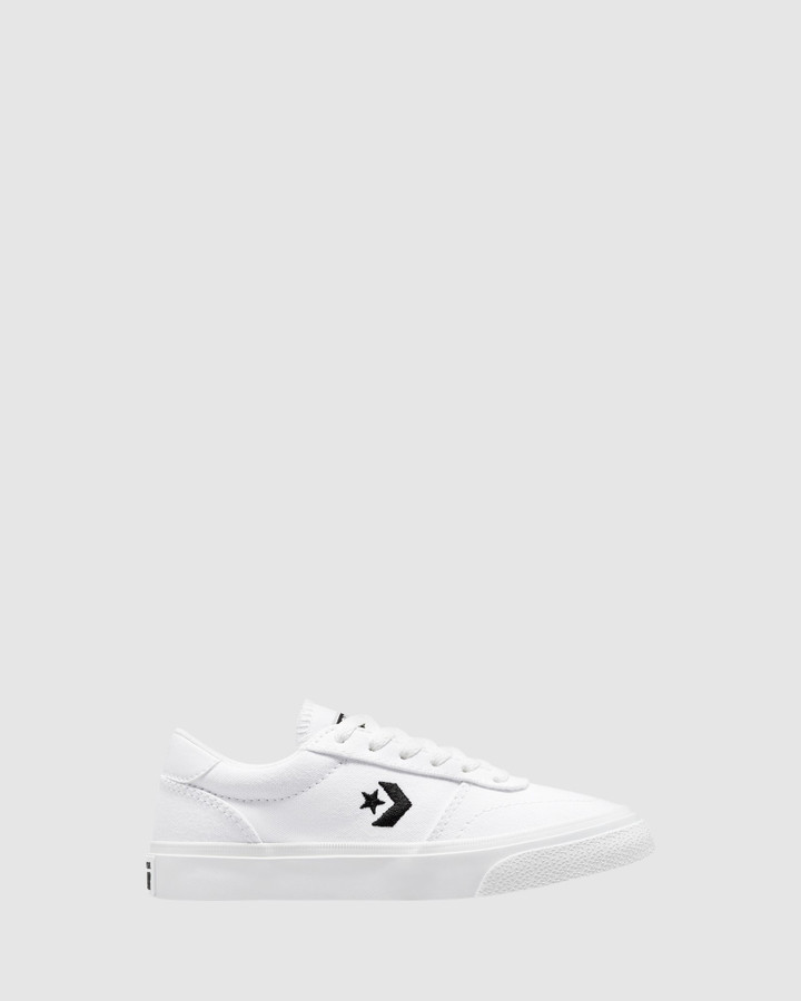 Shoes and Sox Boulevard Canvas Yth B White
