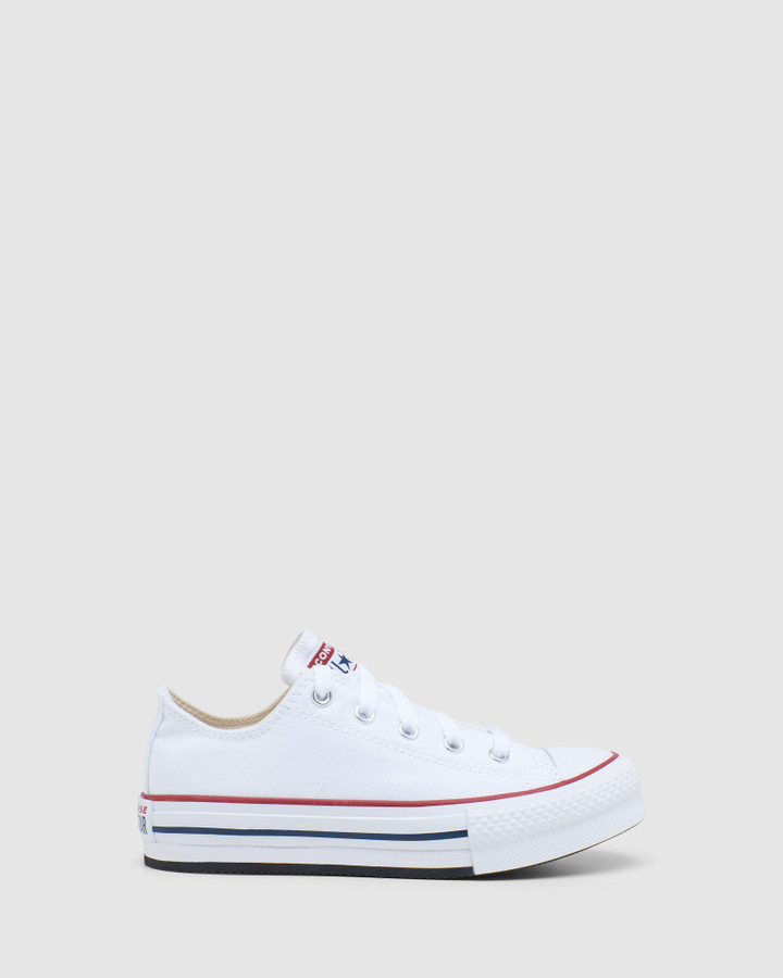 Shoes and Sox Ct As Platform Ox Yth G White